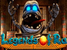 Играйте c автоматом Legends Of Ra от Evoplay в зале Вулкан Делюкс